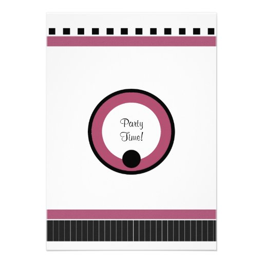 Fiesta de los bistros en blanco y rosado negros anuncios
