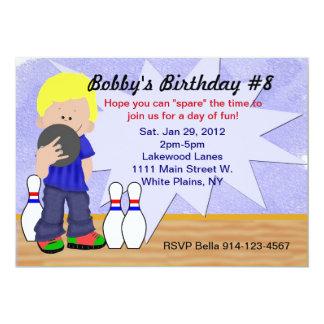 """Fiesta de los bolos del cumpleaños invitación 5"""" x 7"""""""