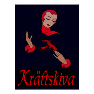 Fiesta de los cangrejos, kräftskiva póster