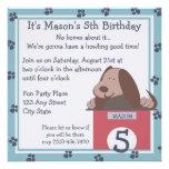 Fiesta de los cuentos del perrito invitacion personalizada