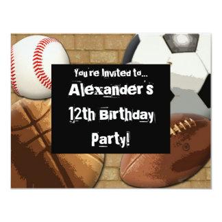 Fiesta de los deportes invitación personalizada