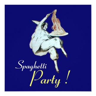 FIESTA de los ESPAGUETIS, cena ITALIANA del azul