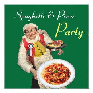 FIESTA de los ESPAGUETIS y de la PIZZA verde rojo Comunicados