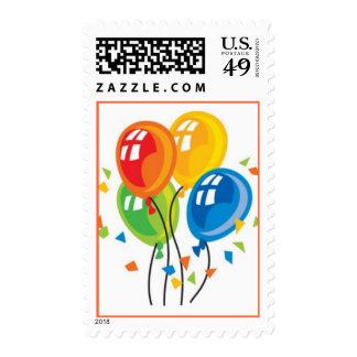Fiesta de los globos timbre postal