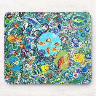 Fiesta de los pescados mousepad