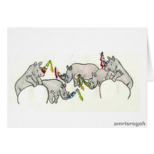 fiesta de los rinoceros felicitaciones
