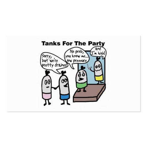 Fiesta de los tanques del equipo de submarinismo tarjeta de visita