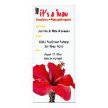 Fiesta de Luau del hibisco de Tiki Invitaciones Personales