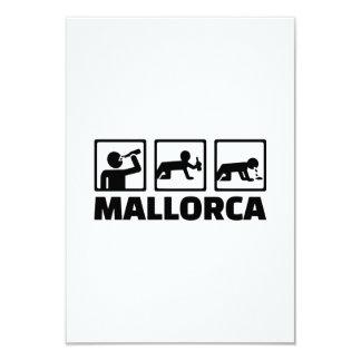 """Fiesta de Mallorca Invitación 3.5"""" X 5"""""""