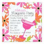 Fiesta de Margarita de la fresa Invitación 13,3 Cm X 13,3cm