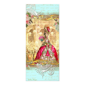 Fiesta de Marie Antonieta en la invitación de