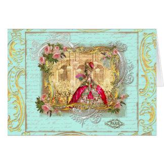 Fiesta de Marie Antonieta en la tarjeta de Versall
