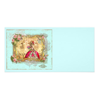Fiesta de Marie Antonieta en Versalles en aguamari Tarjeta Fotográfica Personalizada