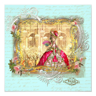 "Fiesta de Marie Antonieta en Versalles en Invitación 5.25"" X 5.25"""