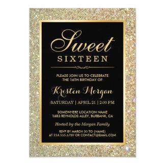 """Fiesta de moda del dulce dieciséis de las chispas invitación 5"""" x 7"""""""