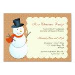 Fiesta de Navidad amistosa del marrón del Polo Invitaciones Personales