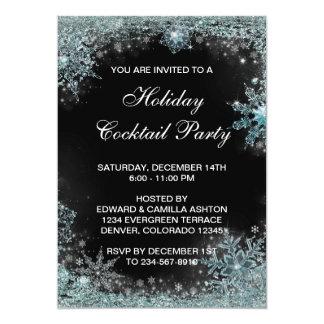 Fiesta de Navidad azul del copo de nieve del Invitación 12,7 X 17,8 Cm