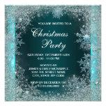 Fiesta de Navidad azul del copo de nieve del trull Comunicado Personalizado