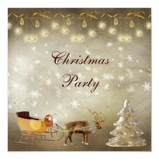 Fiesta de Navidad con clase y del trineo Invitación 13,3 Cm X 13,3cm