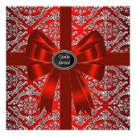 Fiesta de Navidad corporativa del damasco rojo de  Anuncio