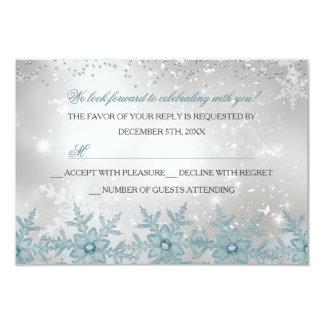 Fiesta de Navidad cristalina azul RSVP del copo de