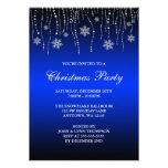 Fiesta de Navidad de los copos de nieve de la Invitación Personalizada