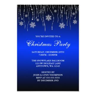 Fiesta de Navidad de los copos de nieve de la Invitación 12,7 X 17,8 Cm