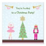 Fiesta de Navidad de los niños - árbol, bailarina, Invitacion Personalizada