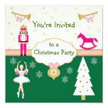 Fiesta de Navidad de los niños - árbol, bailarina, Comunicados Personalizados