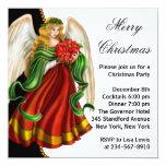 Fiesta de Navidad del ángel del navidad Anuncio Personalizado
