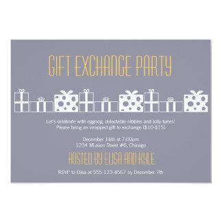 """Fiesta de Navidad del intercambio del yanqui del Invitación 5"""" X 7"""""""
