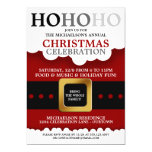 Fiesta de Navidad del juego de Santa Invitación 12,7 X 17,8 Cm