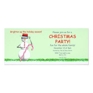 """Fiesta de Navidad del muñeco de nieve del día de Invitación 4"""" X 9.25"""""""