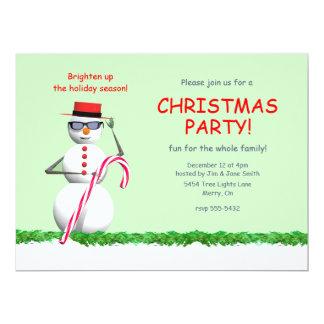 """Fiesta de Navidad del muñeco de nieve del día de Invitación 6.5"""" X 8.75"""""""