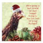 Fiesta de Navidad del pollo de Santa de la granja  Comunicados Personalizados
