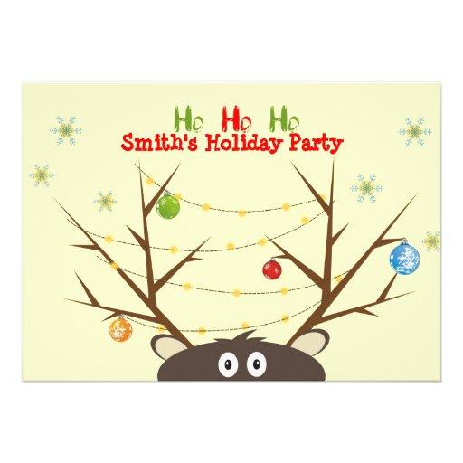 Fiesta de Navidad del reno de la familia Comunicados Personales