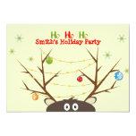Fiesta de Navidad del reno de la familia Invitación 12,7 X 17,8 Cm