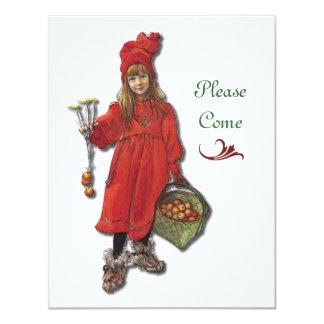 Fiesta de Navidad escandinava Invitacion Personalizada