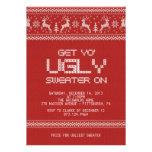 fiesta de Navidad fea del suéter Invitacion Personal