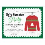 Fiesta de Navidad fea del suéter Invitación