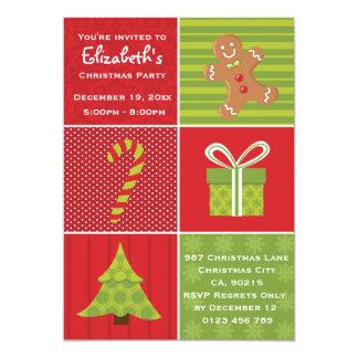 """Fiesta de Navidad festiva de los niños lindos Invitación 5"""" X 7"""""""