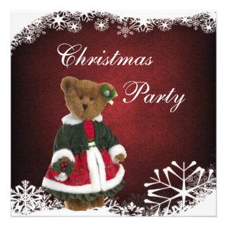 Fiesta de Navidad festiva linda del oso de peluche Anuncio