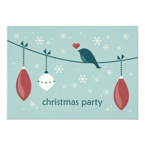 """Fiesta de Navidad Invitación 5"""" X 7"""""""