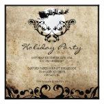 Fiesta de Navidad Invitación-Santa y reno