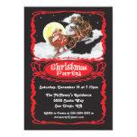 Fiesta de Navidad Invitaions de Papá Noel del Invitación Personalizada