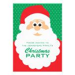 Fiesta de Navidad linda de Santa del dibujo animad