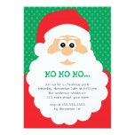 Fiesta de Navidad linda de Santa Invitación 12,7 X 17,8 Cm