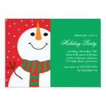 Fiesta de Navidad linda del muñeco de nieve Invitación 12,7 X 17,8 Cm