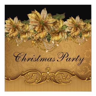 Fiesta de Navidad negra elegante del oro del Comunicados Personales