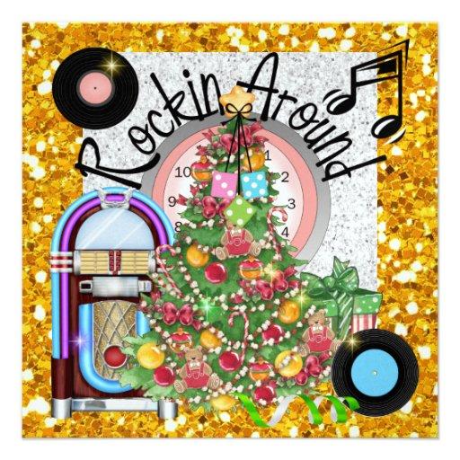 Fiesta de Navidad oscilante - SRF Invitacion Personal